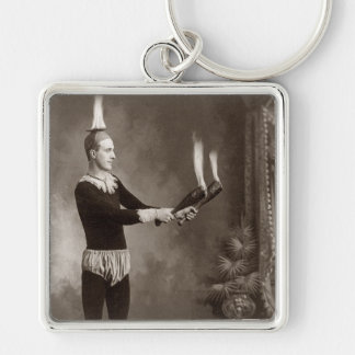 Vintage Fire Juggler Key Chain