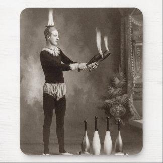 Vintage Fire Juggler Mouse Pads