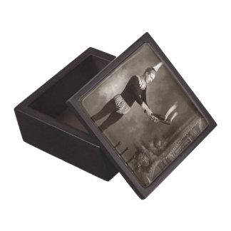 Vintage Fire Juggler Premium Jewelry Box