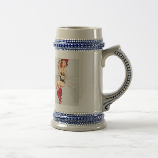 Vintage Fire pole Pin Up Girl Beer Stein