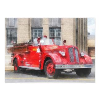 Vintage Fire Truck Custom Invitations