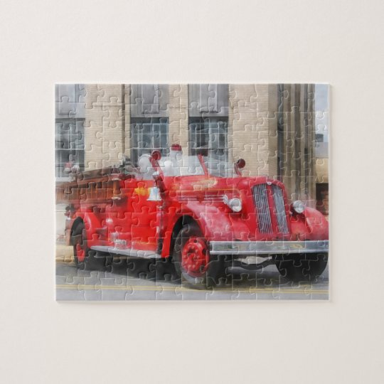 Vintage Fire Truck Jigsaw Puzzle