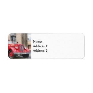 Vintage Fire Truck Return Address Label
