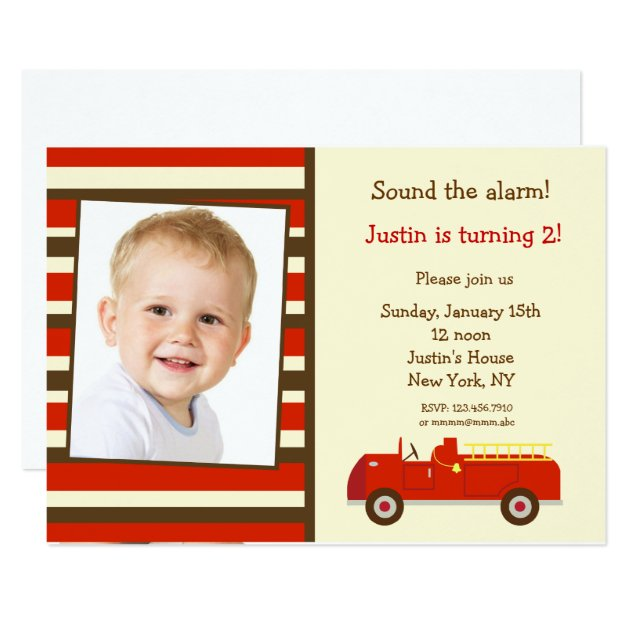Fire Truck Invites for luxury invitations layout