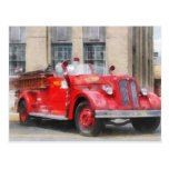 Vintage Fire Truck Post Card