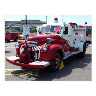 Vintage Fire Truck Postcard