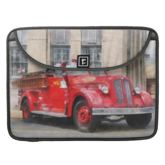 Vintage Fire Truck Sleeves For MacBooks