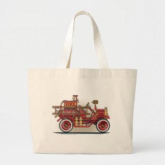 Vintage Fire Truck Tote Bag