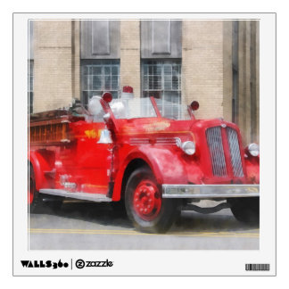Vintage Fire Truck Wall Decal