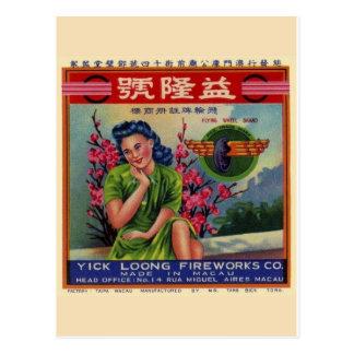 Vintage Firecracker Package Postcard