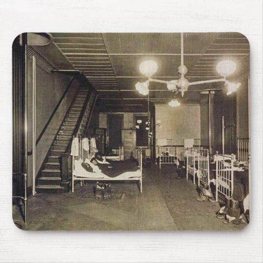 Vintage Firemen - Fire Station Beds Mousepad