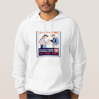 Vintage First Aid Safety On the Job WPA Poster Hoodie