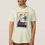 Vintage First Aid Safety On the Job WPA Poster T-Shirt