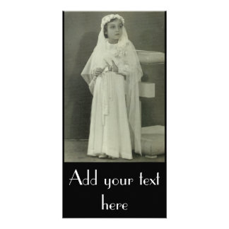 Vintage First communion Card
