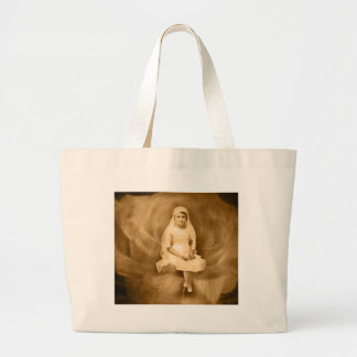 Vintage First Communion Girl, Dress, Veil, Rose Jumbo Tote Bag
