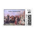 Vintage First Thanksgiving Postage Stamp