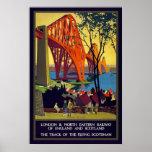 Vintage Firth of Forth Bridge Scotland Poster