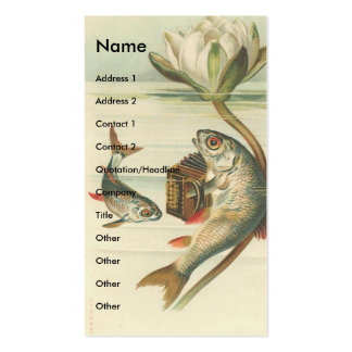Vintage Fish Double-Sided Standard Business Cards (Pack Of 100)