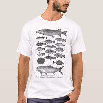 Vintage Fish Fishes Illustration T-Shirt