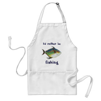 Vintage Fish, I'd Rather Be Fishing Adult Apron