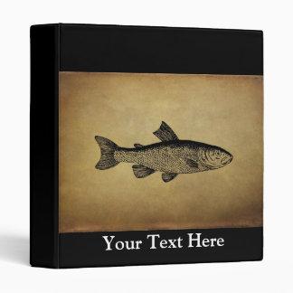 Vintage Fish Illustration Binder