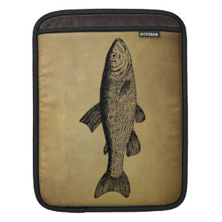 Vintage Fish Illustration Sleeve For iPads