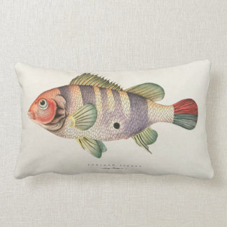 Vintage Fish Image Pillow