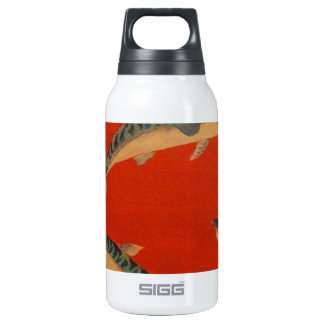 VINTAGE FISH PAINTING INSULATED WATER BOTTLE