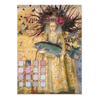 Vintage Fish Pisces Woman Renaissance Gothic Whims Card