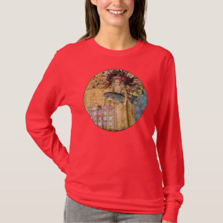 Vintage Fish Pisces Woman Renaissance Gothic Whims T-Shirt