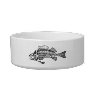 vintage Fish Skeleton Cat Bowl