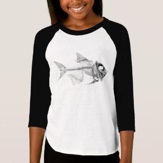 Vintage fish skeleton etching T-Shirt