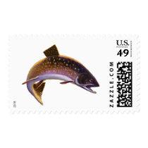 Vintage Fish, Sports Fishing Fisherman Postage