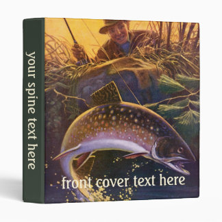 Vintage Fish, Sports Fishing Trout Catch n Release Binder