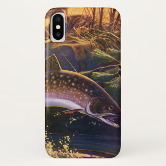 Vintage Fish, Sports Fishing Trout Catch n Release iPhone X Case