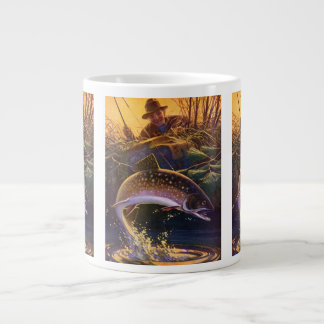 Vintage Fish, Sports Fishing Trout Catch n Release Large Coffee Mug