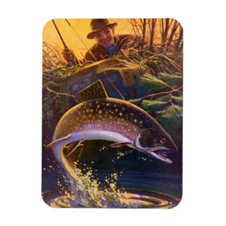 Vintage Fish, Sports Fishing Trout Catch n Release Magnet
