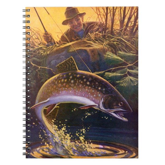 Vintage Fish, Sports Fishing Trout Catch n Release Notebook