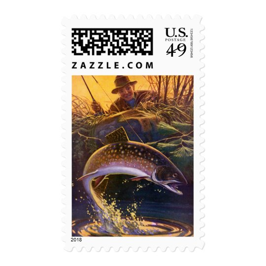 Vintage Fish, Sports Fishing Trout Catch n Release Postage