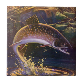 Vintage Fish, Sports Fishing Trout Catch n Release Tile
