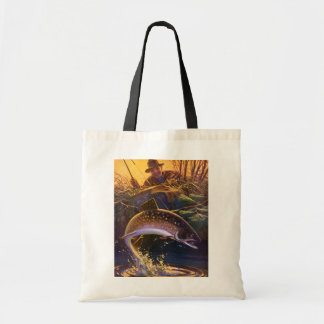 Vintage Fish, Sports Fishing Trout Catch n Release Tote Bag