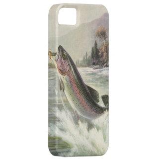 Vintage Fisherman Fishing Rainbow Trout Fish iPhone SE/5/5s Case
