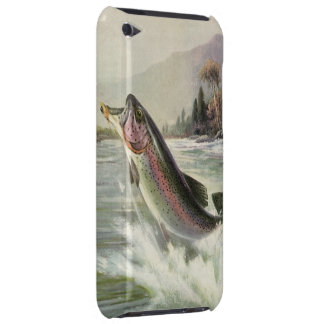 Vintage Fisherman Fishing Rainbow Trout Fish iPod Touch Case-Mate Case