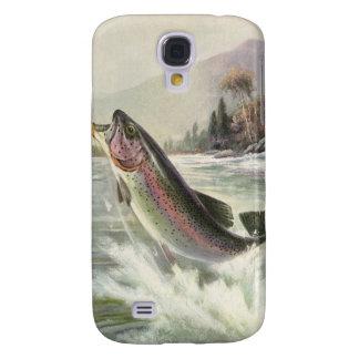 Vintage Fisherman Fishing Rainbow Trout Fish Samsung S4 Case