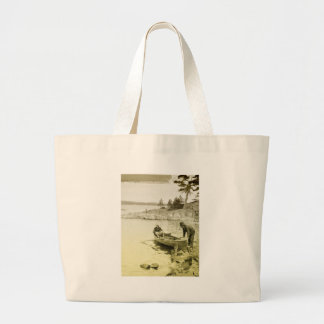 Vintage Fishermen Jumbo Tote Bag