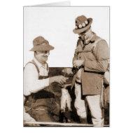 Vintage Fishermen card