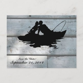 Vintage Fishermen Wood Save the Date