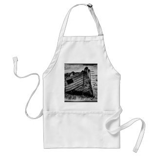 Vintage fishing boat. adult apron