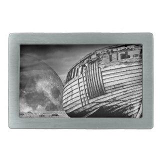 Vintage fishing boat. belt buckles