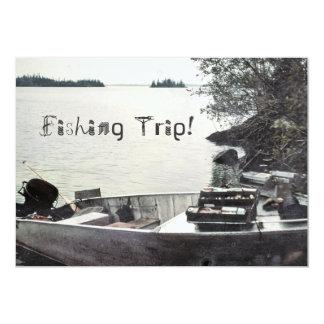 Vintage Fishing Boat Card